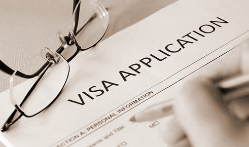 Visa application form for temporary or permanent residence visa