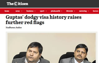 Guptas' dodgy visa history raises further red flags